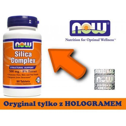 Silica complex 500 mg - 90 tabs wyprodukowany przez Now foods