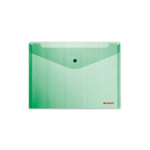 Koperta na zatrzask A4 zielona - PENMATE, WIKR-1035643