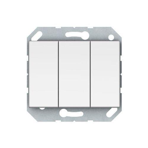 Włącznik potrójny VILMA P510-030-02B BIAŁY DPM (4779101210590)