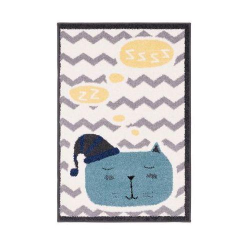 Dywan dziecięcy SLEEPY kremowo-niebieski 80 x 120 cm (5901760133074)