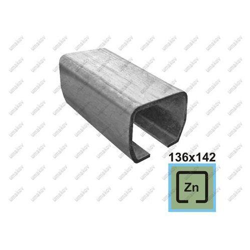 Profil do bramy przesownej zn, 136x142x6mm, l6m marki Umakov
