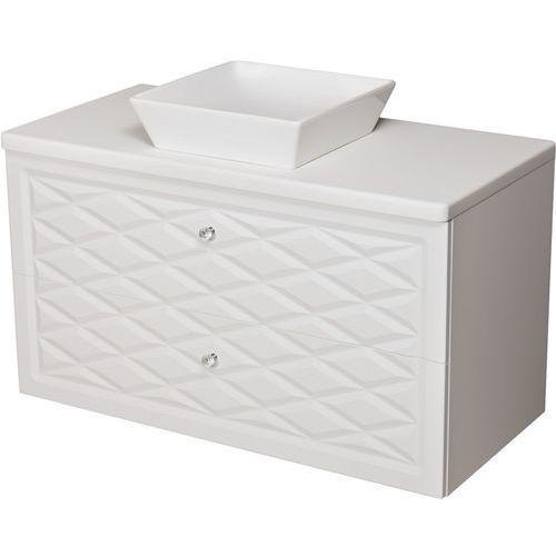 Szafka z umywalką ceramiczną 100 cm Cobra Gante kolor biały mat