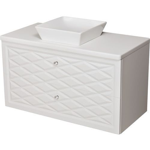Szafka z umywalką ceramiczną 100 cm Cobra Gante kolor biały mat, kolor biały