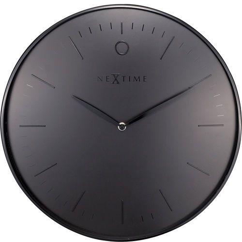 Nextime Elegancki zegar ścienny glamour 40 cm, czarny (3235 zw) (8717713021216)