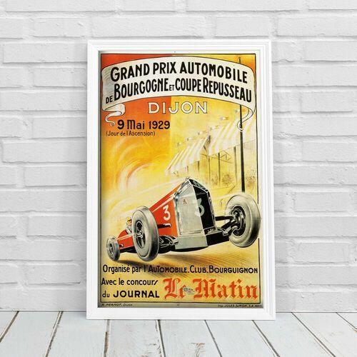 Vintageposteria.pl Retro plakat retro plakat grand prix automobile de bourgogne et coupe repusseau