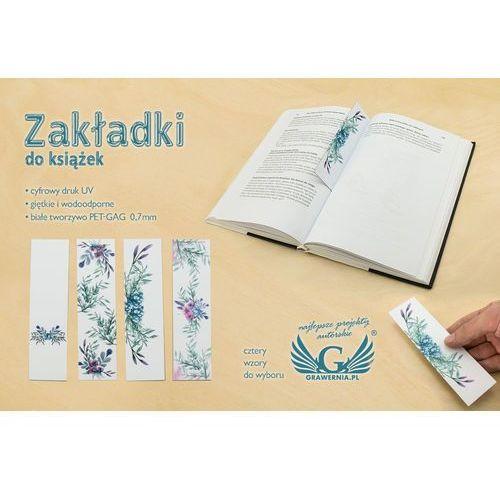 Zakładki do książek komplet 4 szt - kwiatowe - cyfrowy druk UV - ZAK003