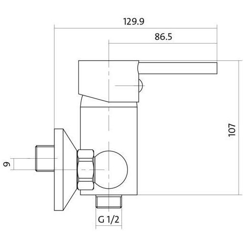 Bateria Cersanit Cersanit simi s951-025 (chrom) S951-025
