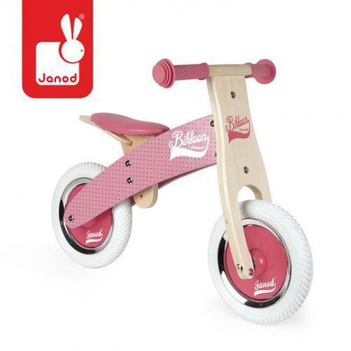 Rowerek biegowy różowy little bikloon 2+, marki Janod