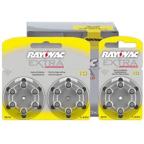 120 x baterie do aparatów słuchowych extra advanced 10 mf marki Rayovac