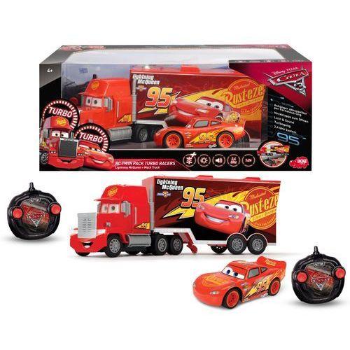 Dickie toys Dickie auta cars 3 zestaw zdalnie sterowane zygzak mcqueen i ciężarówka maniek