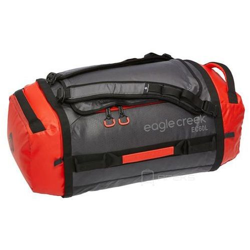 Eagle Creek Cargo Hauler Duffel 60L torba podróżna składana 67 cm / plecak / Flame / Asphalt - Flame / Asphalt, kolor czerwony