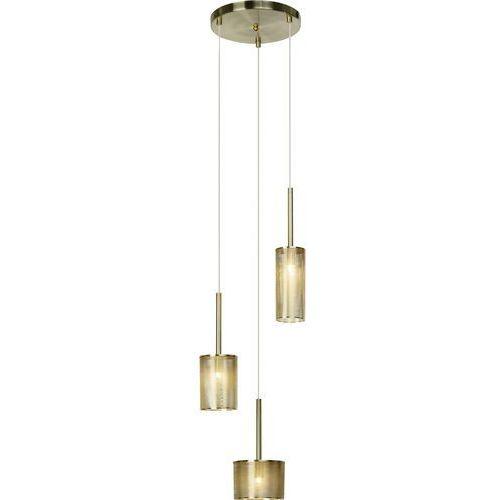 Gracian - lampa wisząca 3-punktowa mosiądz Ø25cm marki Brilliant