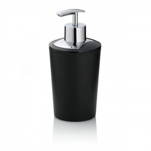 Kela Dozownik do mydła, 0,35 l, śred. 8 x 17 cm, czarny