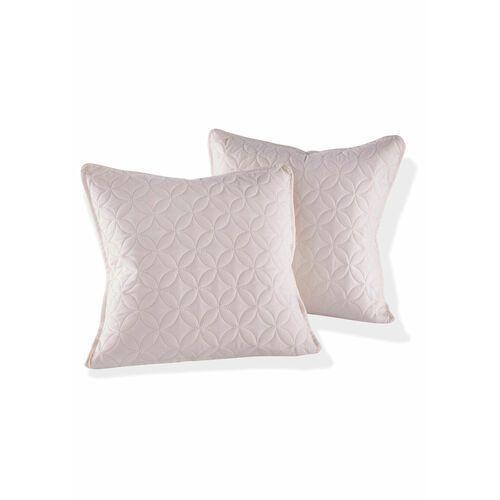 Bonprix Narzuta na sofę w pikowany wzór kremowy