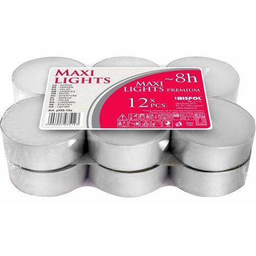 Zestaw świeczek tealight Maxi, 12 szt., 691054