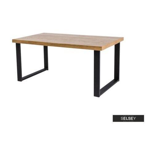 SELSEY Stół Qildor 180x90 cm z litego drewna dębowego