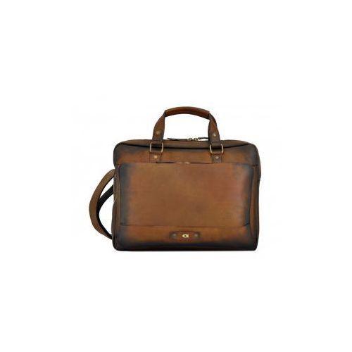 Alive 23 torba skóra naturalna firmy na ramię z miejscem na notebook unisex marki Daag