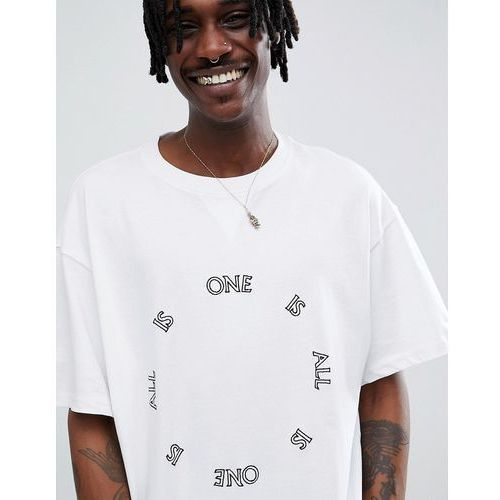 Weekday Limited Edition Treta One is All T-Shirt - White, 1 rozmiar