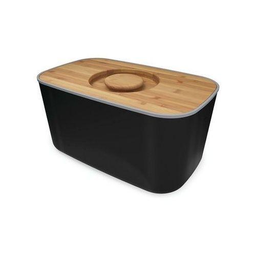 - chlebak stalowy z bambusową deską czarny marki Joseph joseph