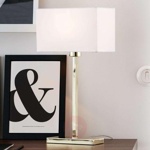 Markslojd Lampa stołowa savoy złoty/biały 106306 - - mega rabat w koszyku (7330024558182)