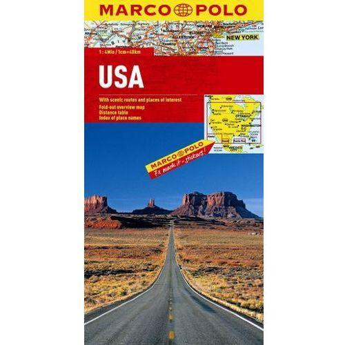 USA 1:4 000 000. Mapa samochodowa, składana. Marco Polo