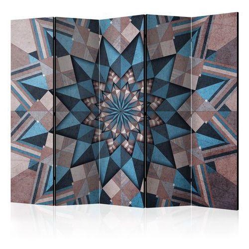 Artgeist Parawan 5-częściowy - gwiezdna mandala (brązowo-niebieski) ii [room dividers]