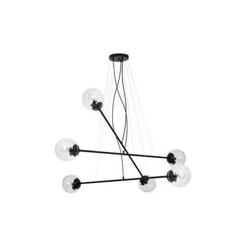 Luminex vario 1373 lampa wisząca zwis klosz 6x60w e27 czarny