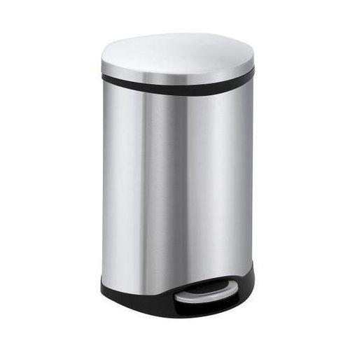 Efektowny pojemnik na odpady, korpus stal szlachetna, poj. 50 l. zamknięcie pokr marki Vepa bins