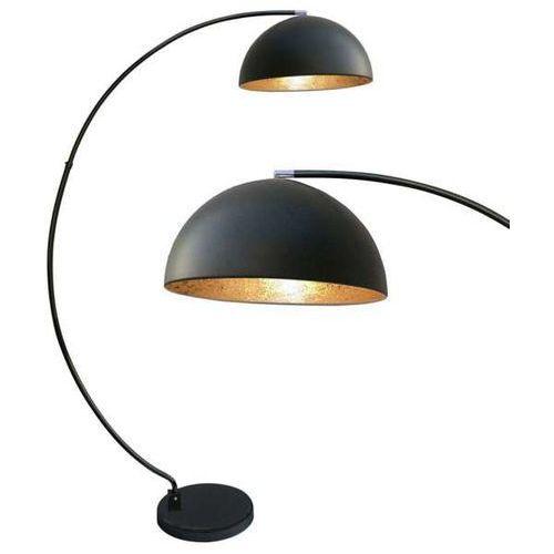 Zumaline Nowoczesna lampa podłogowa luzia ts-050402f-bkgo metalowa oprawa stojąca z odbłyśnikiem kopuła czarna