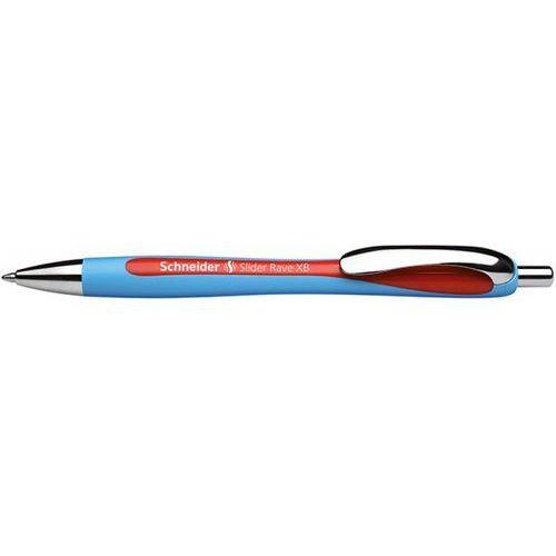 Długopis automatyczny SCHNEIDER Slider Rave, XB, czerwony, SR132502