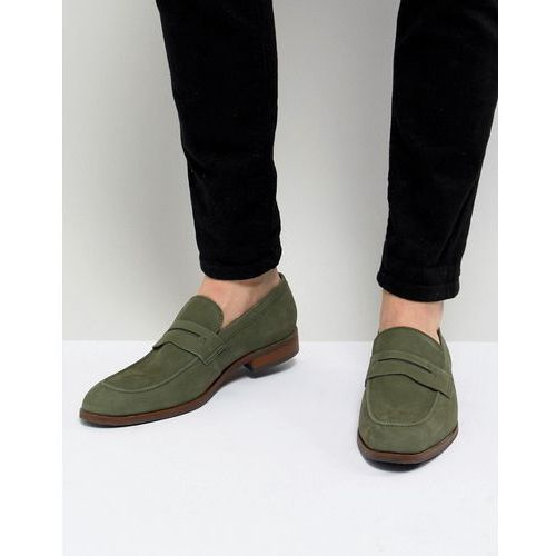 Dune Penny Loafers In Green Nubuck - Green