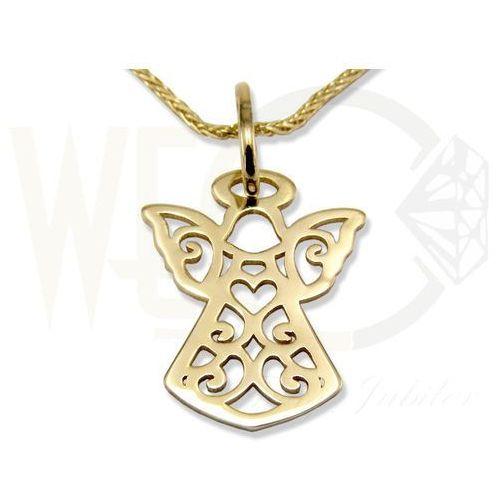 Węc - twój jubiler Wisiorek z żółtego złota aniołek wec-z-wis-aniołek-39