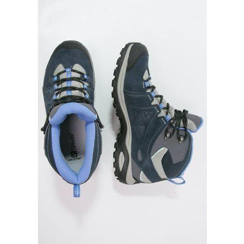 Salomon ELLIPSE 2 GTX Buty trekkingowe titanium/deep blue/petunia blue