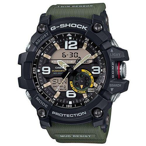OKAZJA - g-shock master of g mudmaster zegarek gg-1000-1a3 - zielony marki Casio