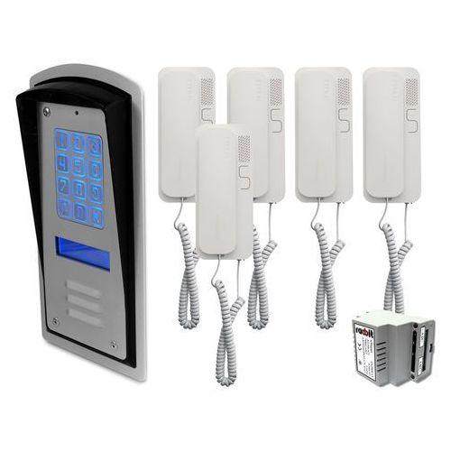 Zestaw 5-rodzinny panel domofonowy wielorodzinny z szyfratorem brc10 mod marki Radbit