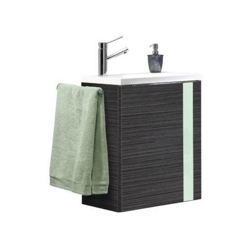 Vedro szafka łazienkowa 50 cm z umywalką - miętowa \ ciemny dąb \ 50 cm marki Lanzet