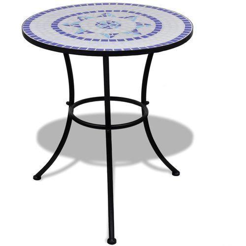 stolik mozaikowy 60 cm niebiesko-biały marki Vidaxl