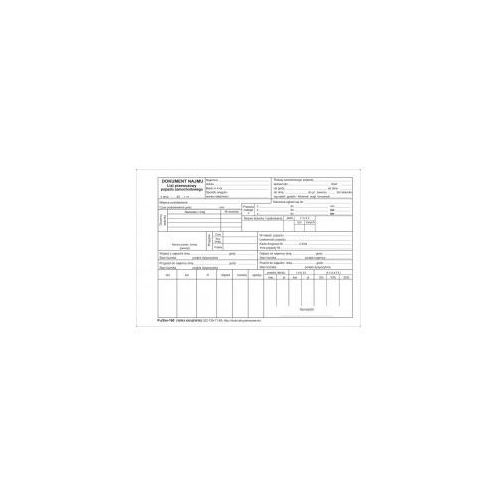 Firma krajewski Dokument najmu pojazdu [pu/sm-160] (5907510473643)