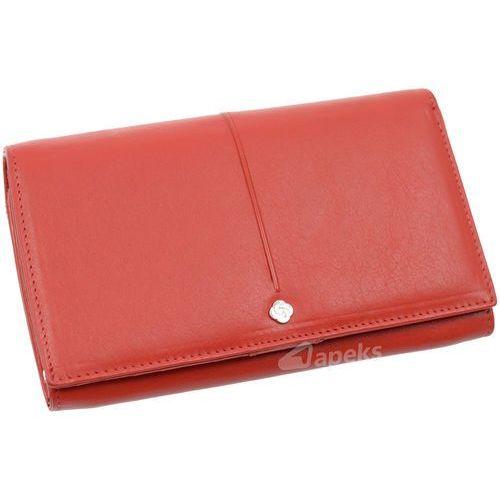 Samsonite Slim Light 144-234-04 portfel skórzany damski - czerwony