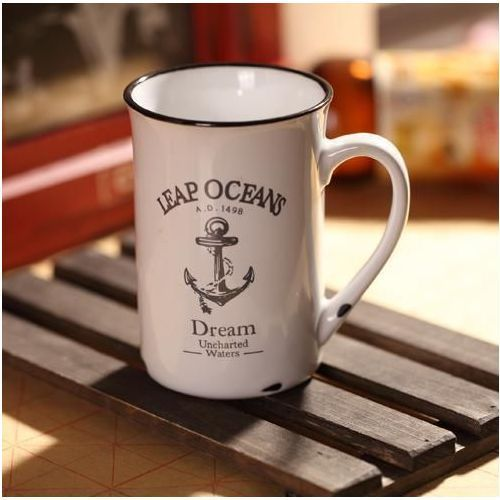 Porcelanowy kubek retro - ocean - ocean marki Gadget master