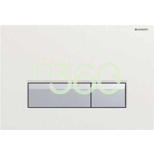 sigma40 przycisk do wc z funkcją odciągu powietrza biały/szczotkowane aluminium 115.600.kq.1 marki Geberit