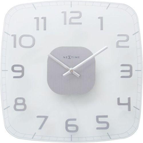 - zegar ścienny classy square - transparentny marki Nextime