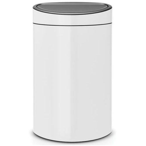 Brabantia Kosz na śmieci 40 litrów touch bin stal szlachetna biała