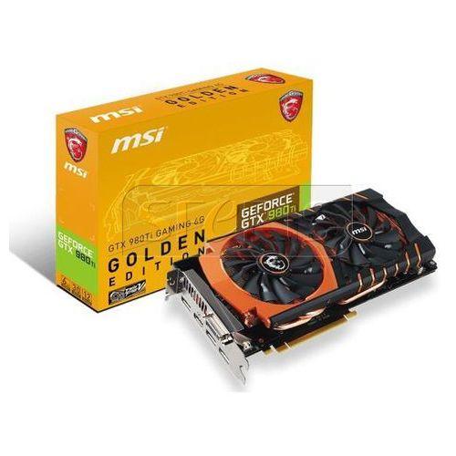 OKAZJA - Karta graficzna MSI GeForce® GTX 980 Ti GAMING GOLDEN, 6GB GDDR5 (384 Bit), HDMI, DVI, 3xDP - GTX 980Ti GAMING 6G GOLDEN