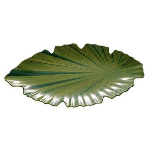 Półmisek z melaminy w kształcie liścia | zielony | różne wymiary