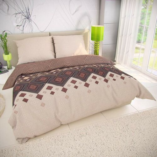Kvalitex Pościel bawełniana coffee beżowy, 140 x 200 cm, 70 x 90 cm, 140 x 200 cm, 70 x 90 cm (8595673442520)