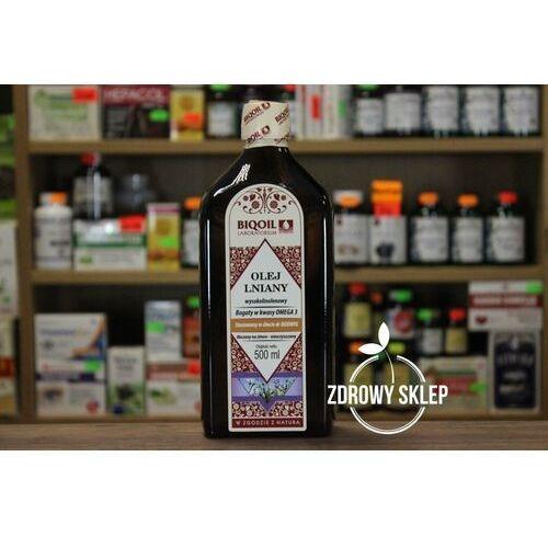 Olej Lniany Budwigowy wysokolinolenowy tłoczony na zimno 500ml BIOOIL