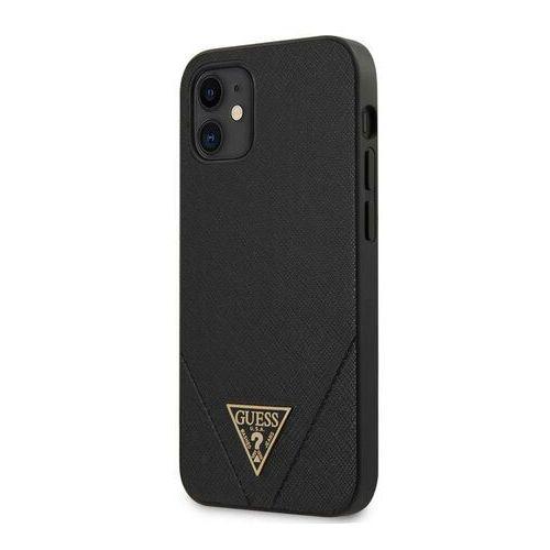 "guhcp12svsatmlbk iphone 12 5,4"" czarny/black hardcase saffiano guess / gue000823 marki Guess"