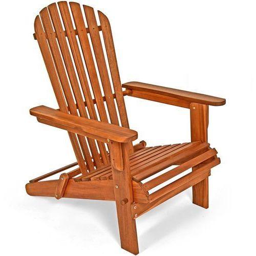 Drewniany leżak ogrodowy fotel krzesło akacja marki Wideshop