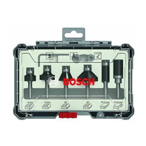 Bosch osprzęt Zestaw frezów 6 szt. trim&edging uchwyt 6mm